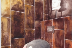 toilet akvarel